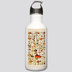 Vintage Mushroom Print Stainless Water Bottle 1.0L